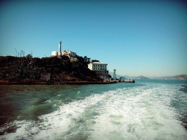 The beautiful Alcatraz island. It was a self-guided tour but take tours already books the ticket, so I didn't have to stand in the long ticketing line.