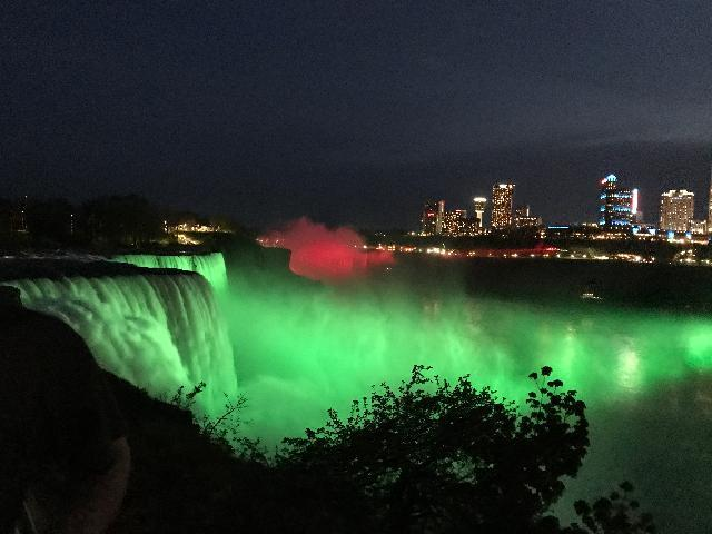Night Light at Niagara Falls NY side