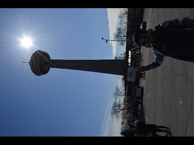Skylon Tower, we had lunch at the revolving center