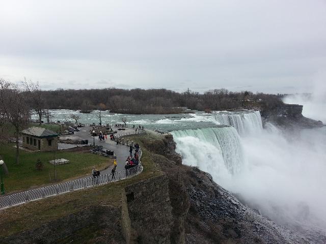 Top view of Niagara Falls