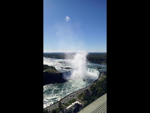 Niagra Falls view from the Tower during lunch