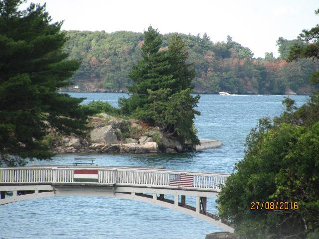 Thousand island border bridge between US and Canada.