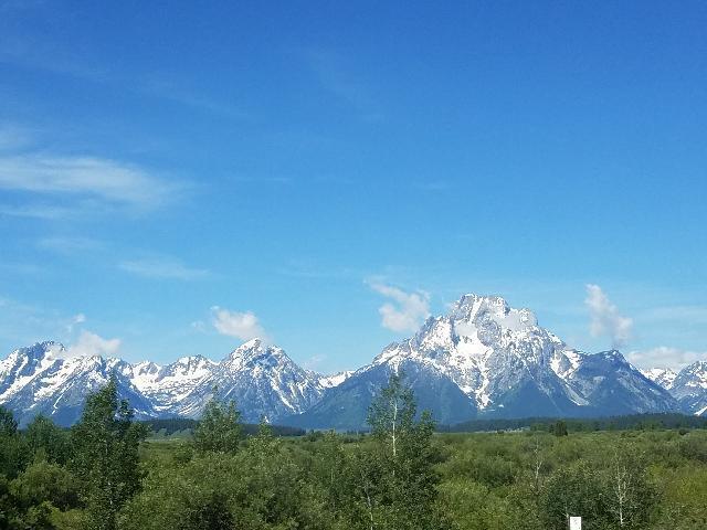 Rocky Mountain Range at Grand Teton national Park-YellowStone