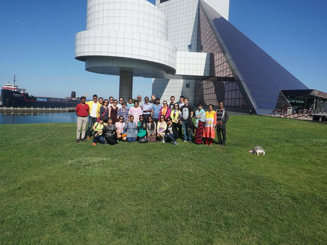 Group picture on the last day near Rock and Roll Hall of Fame , Cleaveland