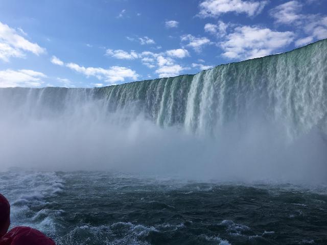 Niagra falls closeup view