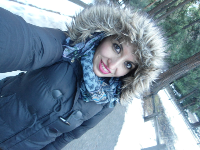 At snow