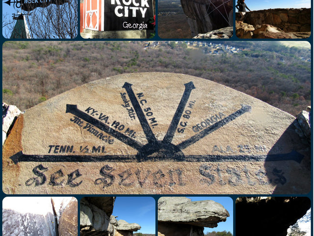 """Rock City is home to ancient rock formations and breathtaking """"See 7 States"""" views. ..."""