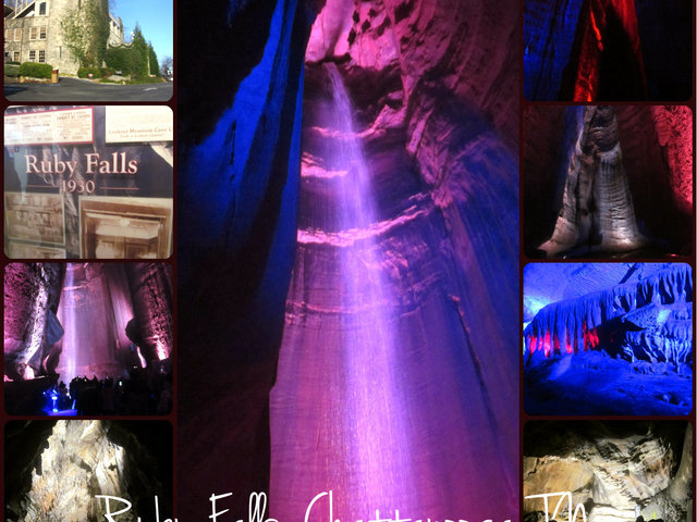 Ruby Falls is a 145-foot high underground waterfall located within Lookout Mountain, near Chattanooga, Tennessee in the United States.