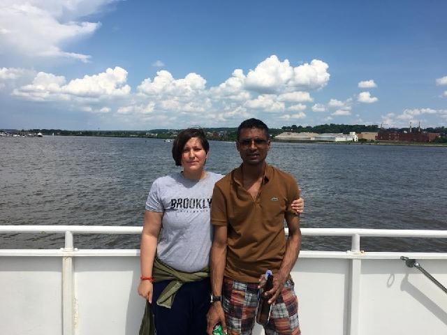 Me & my wife in DC cruise