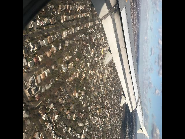 Minutes before landing in NYC...