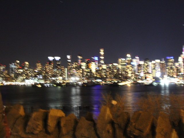 The night view at NYC from night tour