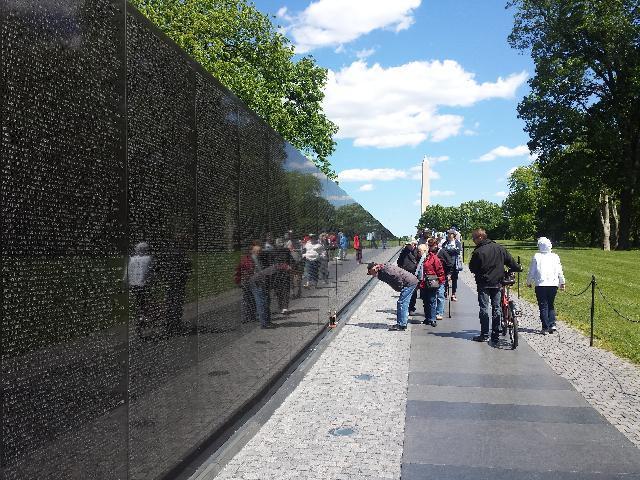 Vietnam Memorial - Washington Monument