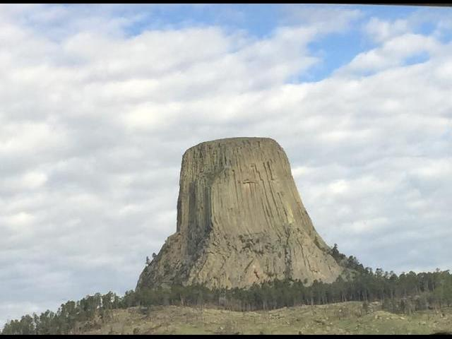 Devils Tower; the shot Close Encounters here