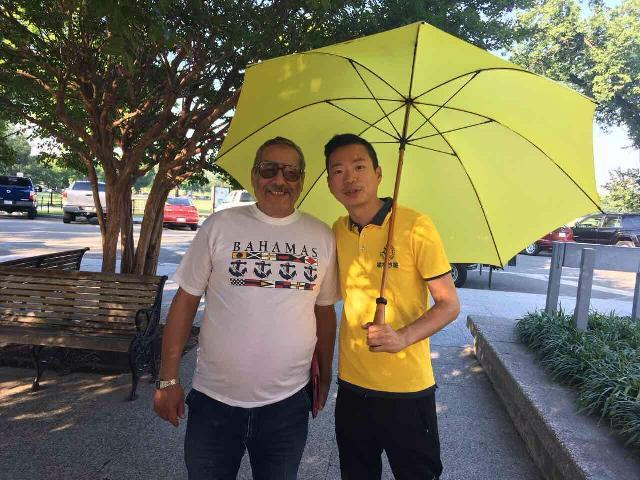 My dad with the best tour guide Mr/Jason