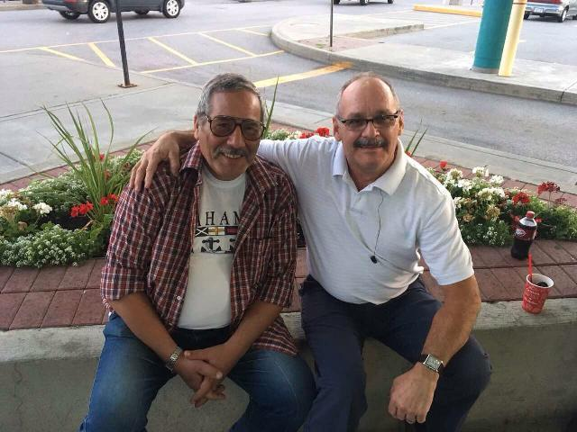 My dad with  Joshua the best driver ever