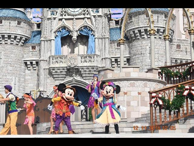 Mickey and Mini Mouse at Disney Magic Kingdom