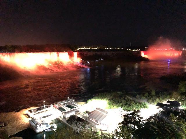 night view of Falls
