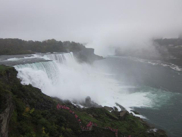 Niagara falls from above