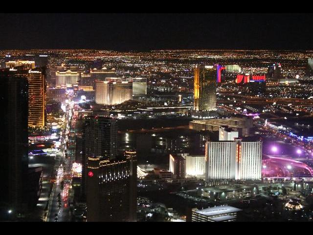 View of the Strip from 109th floor of Stratosphere tower.