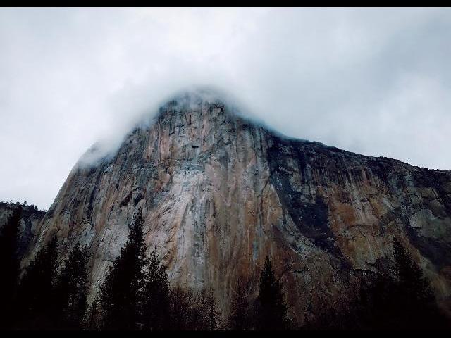 El Capitan wearing a cloud