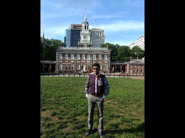 At Philadelphia Hall of Freedom