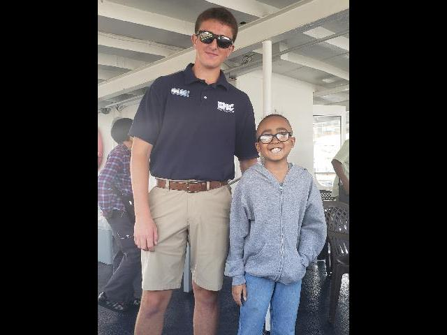 Harbor Cruise crew member with my son