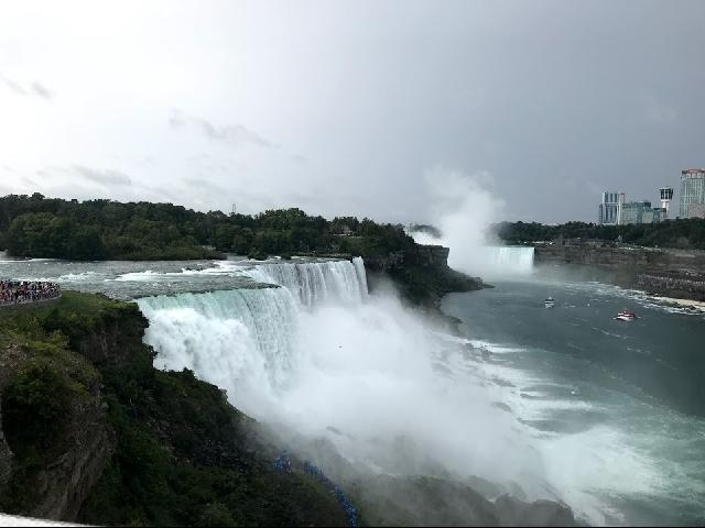 Niagra Fall from the bank side
