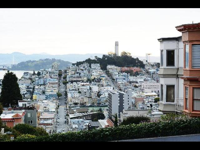 San Francisco -  View on the top of Lombard Street.