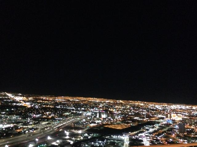LAs vegas from 109th floor of Stratosphere Tower