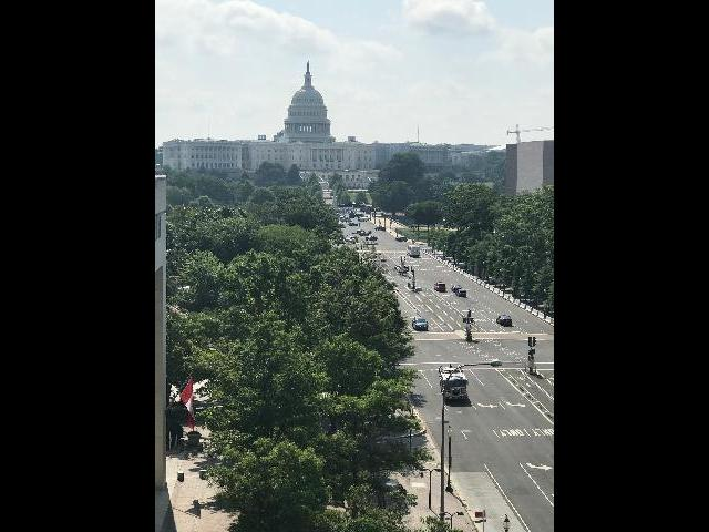 View from museum to Capitol