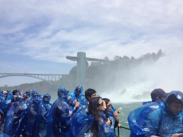 On board of the Maid of the Mist!