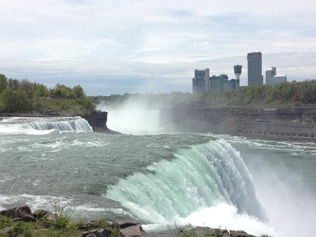 We got really close to the falls!