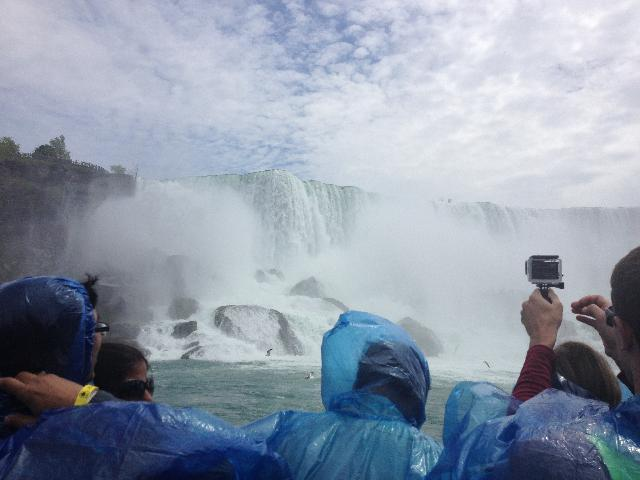 Really cool view from the Maid of the Mist ride