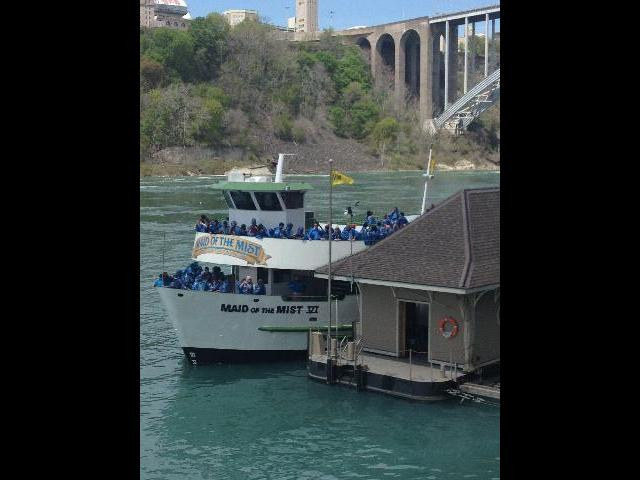 Boarding the Maid of the Mist
