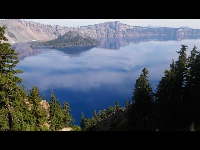 Crater Lake- just seeing it takes longer time!! We wish spent more time around the lake.