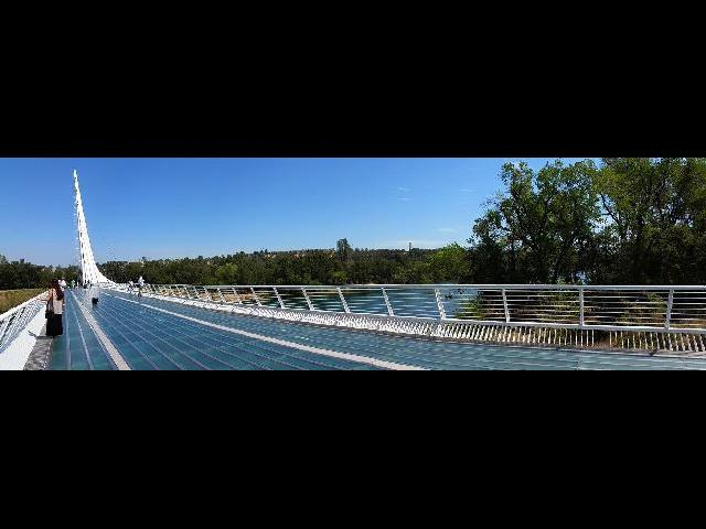 Sundial glass bridge
