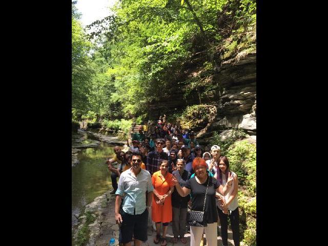 Group Enjoyed the Walking Trail