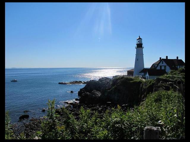 Cape Elizabeth Light house in Portland, Maine