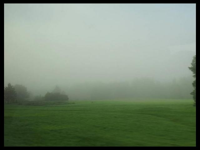 The fog in Maine is crazy!