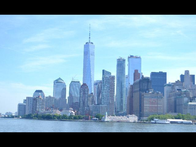 New York City skyline with One Trade Center view..