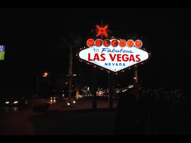 Las Vegas sign, part of night tour, well worth it
