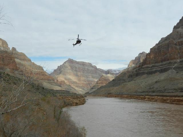 If you take the helicopter tour, you will stop and take a 10 minutes river cruise inside the Grand Canyon