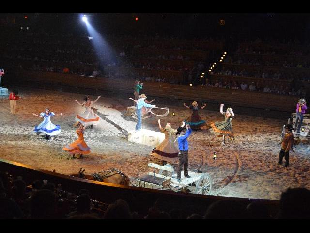 Dolly Parton's Dixie Stampede Dinner Attraction rodeo style show in Pigeon Forge City, Tennessee USA