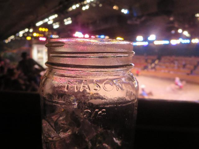 Mason Jar at Dolly Parton's Dixie Stampede Dinner Attraction in Pigeon Forge City, Tennessee USA