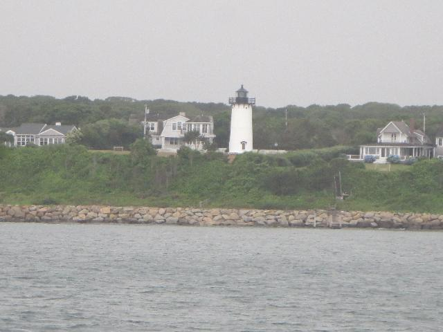 Lighthouse on Martha's Vineyard Island in Massachusetts USA