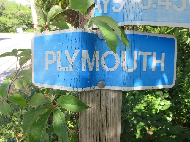 Plymouth street sign in Massachusetts USA