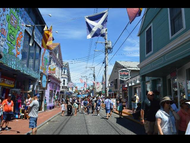 Commercial Street in Provincetown, Cape Cod, Massachusetts USA