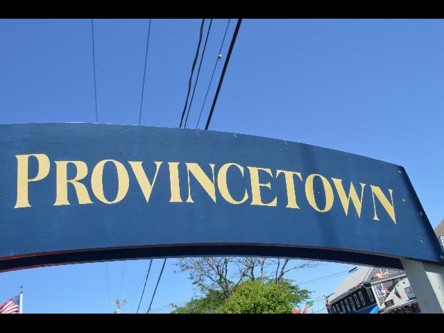 Provincetown sign in Cape Cod, Massachusetts USA