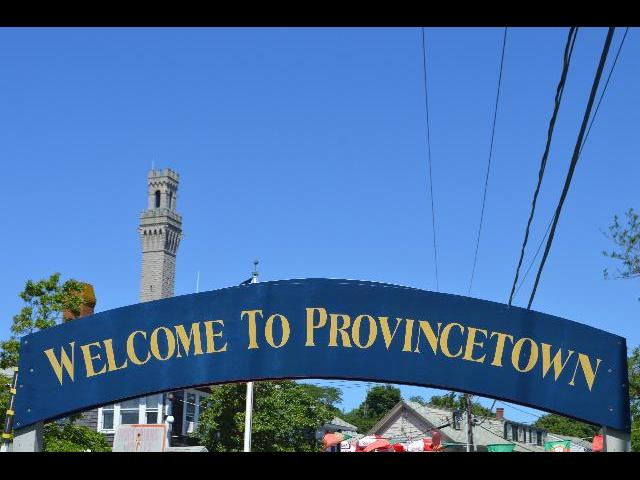 Welcome to Provincetown sign in Cape Cod, Massachusetts USA