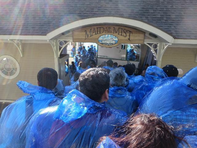 Passengers boarding the Niagara Falls Maid of the Mist boat ride